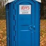 Jeff's porta potties are built with sturdy materials designed to withstand a construction site's tough environment. Our restrooms are delivered clean and graffiti free.